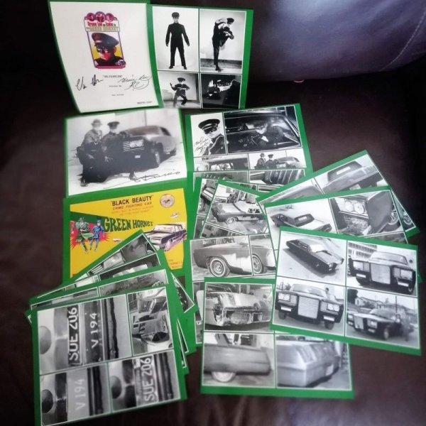 画像1: グリーン・ホーネットブラックビューティ号復刻フォトカードセット(カード17枚) (1)